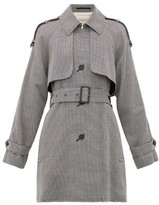 Golden Goose Serenity Short Houndstooth Trench Coat - Womens - Grey