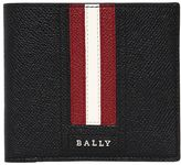 Bally Stripes Saffiano Leather Classic Wallet