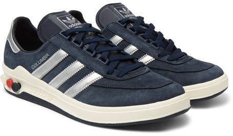 adidas Columbia SPZL Nubuck and Leather Sneakers - Men - Navy