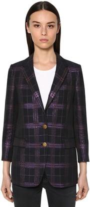 Saulina Checked Lurex Jacket