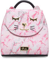 Betsey Johnson Women's Backpacks PINK - Pink Marbled Cat Backpack