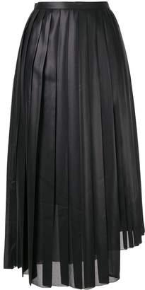 TOMORROWLAND pleated asymmetric skirt