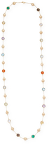 Candela Women's 18K Yellow Gold over Sterling Silver Multi-Stone Long Necklace