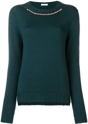 P.A.R.O.S.H. Embellished Collar Jumper