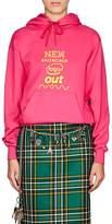 """Balenciaga Women's """"New Logo"""" Cotton-Blend Fleece Hoodie"""