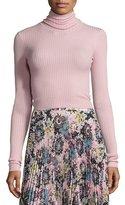 A.L.C. Elisa Ribbed Turtleneck Sweater, Peony