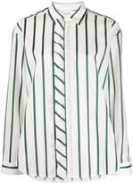RED Valentino glitter striped shirt