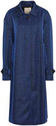 Marco De Vincenzo Metallic Jersey Coat