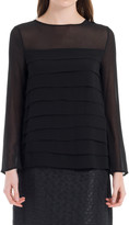 Max Studio Long Sleeved Tiered Blouse