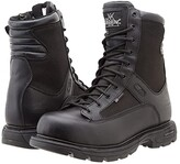 Thorogood 8 Inch Trooper Side Zip (Black) Men's Work Boots