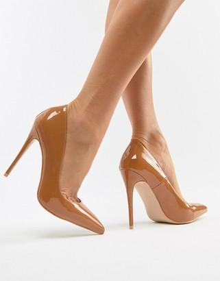 Simmi Shoes Simmi London Imani Mocha patent pumps-Beige