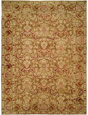 Wildon Home Mina Oriental Hand Knotted Brown/Ivory Area Rug Rug Size: Rectangle 6' x 9'