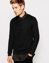 Replay Crew Jumper Loose Weave Knit