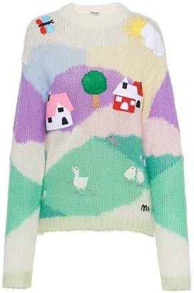 Miu Miu Embellished Mohair Sweater