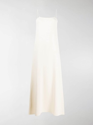 Jil Sander Square Long Slip Dress