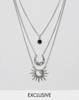 Reclaimed Vintage Inspired Mystic Multilayer Necklace