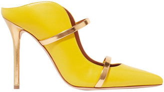 Malone Souliers Maureen Metallic-trimmed Leather Mules