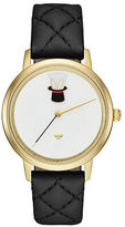 Kate Spade New York Analog Make The Magic Happen Metro Novelty Leather Strap Watch