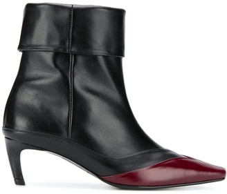 SALONDEJU Contrast Ankle Boots