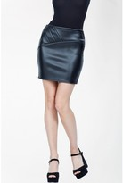 Select Fashion Fashion Womens Black Seam Detail Pu Mini Skirt - size 6