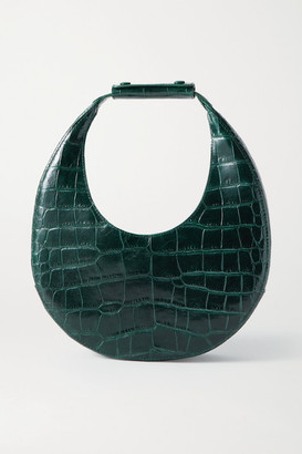 STAUD Moon Croc-effect Leather Tote - Emerald