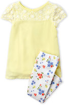 Juicy Couture Toddler Girls) Two-Piece Lace Yoke Tunic & Floral Leggings Set