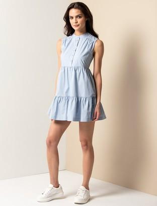 Forever New Billie Petite Shirt Smock Dress - Blue - 14