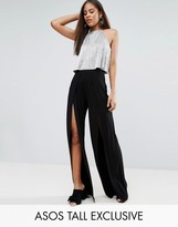 ASOS Tall ASOS TALL Wide Leg Pants With Split Front