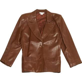 Celine Brown Leather Jackets