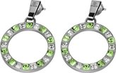 Jacques Lemans Stud Earrings with Sparkling Swarovski Crystals Solid Stainless Steel S-O46J