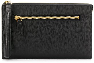 Salvatore Ferragamo Zipped Clutch Bag