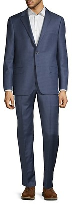 Hickey Freeman Classic Fit Milburn IIM Series Micro-Check Wool Suit