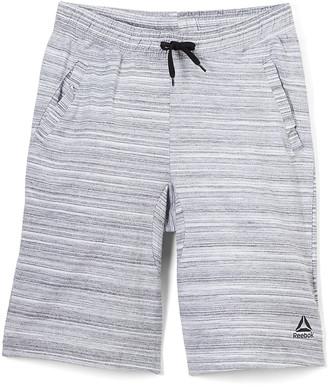 Reebok Boys' Active Shorts LT - Light Gray Heather Space Dye Weekender Shorts - Toddler & Boys