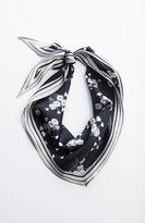 J. Jill Daisy-Print Silk Neckerchief