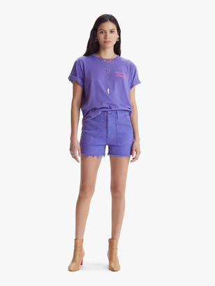 Mother The Shaker Crop Short Short Fray - Royal Purple