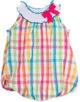 Rare Editions Baby Girls' Multicolor Plaid Seersucker Bubble Dress