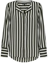 Selected Green and White Long Sleeved Stripe Shirt - 36 (10) - Black/White