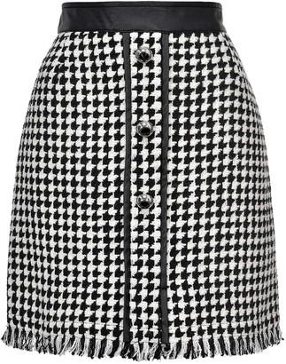 Pinko Houndstooth Tweed Skirt