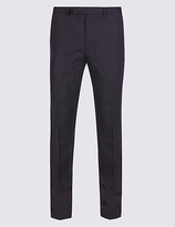M&S Collection Big & Tall Blue Slim Fit Trousers