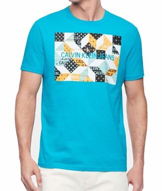 Calvin Klein Men's Brand Traveling Logo T-Shirt