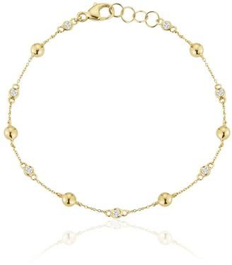 Dana Rebecca Designs 14kt yellow gold Poppy Rae pebble station bracelet