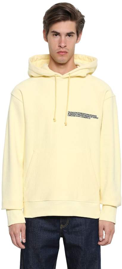 Calvin Klein Hooded Cotton Sweatshirt W/ Embroidery