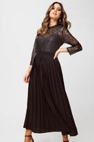 Little Mistress Amelia Black Foiled Lace Midaxi Dress