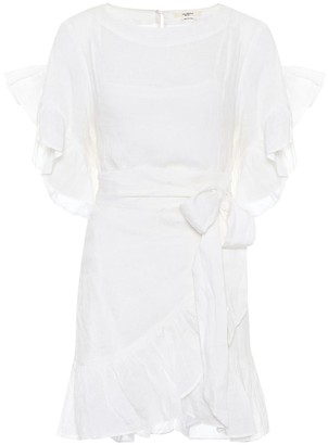 Etoile Isabel Marant Isabel Marant, étoile Delicia linen wrap dress