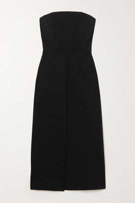 Dolce & Gabbana Strapless Woven Midi Dress - Black