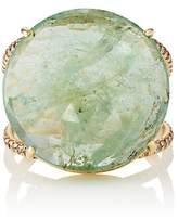 Zoe Women's White Diamond & Emerald Ring