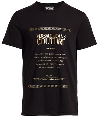 Versace Goldtone Font Brand Tee