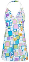 Pate De Sable Multi Geometric Print Beach Dress