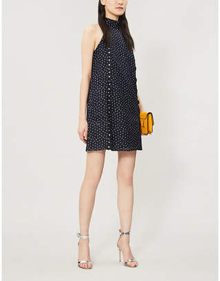 Ted Baker Daisy floral-embroidered halterneck lace dress