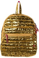 Le Big Gold Quilted Metallic Brianna Backpack